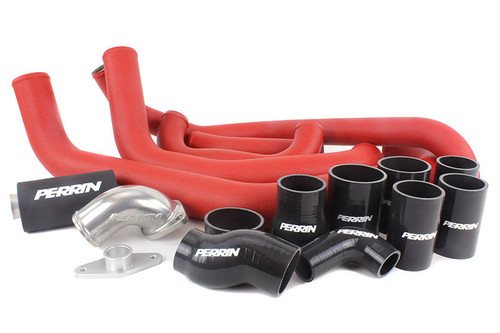 Perrin Boost Tube Kit (Red) For 2008-2014 Subaru WRX (PSP-ITR-436-2RD/BK)