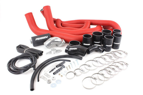 Perrin FMIC Pipe Kit (Red) For 08-14 Subaru WRX - PSP-ITR-436-2RD/BK