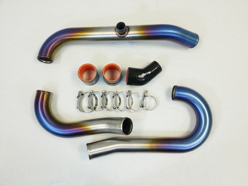 "ETS 2.5"" Titanium Short Route Intercooler Piping Kit For 03-06 Mitsubishi Evo 8/9 - 100-20-ICP-058"