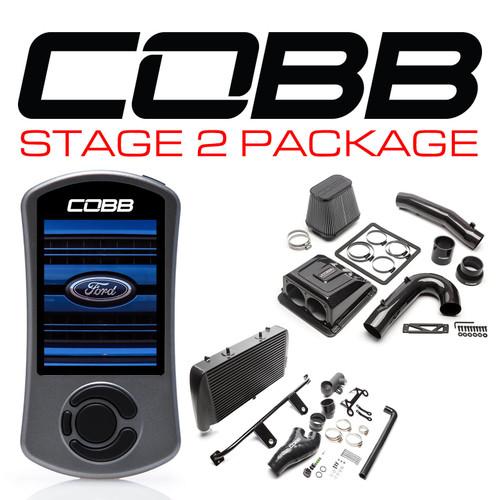 Cobb Stage 2 Red Line Carbon Fiber Power Package Black For 17-20 Ford F-150 Raptor EcoBoost/Limited - FOR0050020BK-RED