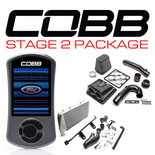 Cobb Stage 2 Red Line Carbon Fiber Power Package Silver For 17-20 Ford F-150 Raptor EcoBoost/Limited - FOR0050020SL-RED