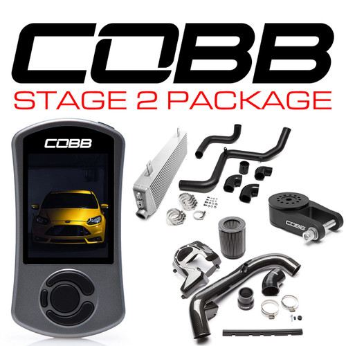 Cobb Stage 2 Carbon Fiber Power Package For 13-18 Ford Focus ST - FOR001FO2CF