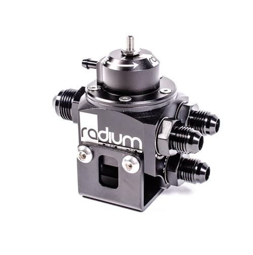Radium Multi Port Black Fuel Pressure Regulator - 20-0100-00
