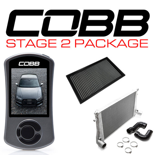 Cobb Stage 2 Power Package With S Tronic Flashing For 15-20 Audi S3 (8V) - VLK0030020-DSG-A