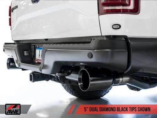 AWE FG Catback Exhaust (Black Tips) For 17-20 Ford Raptor Ecoboost - 3015-33106