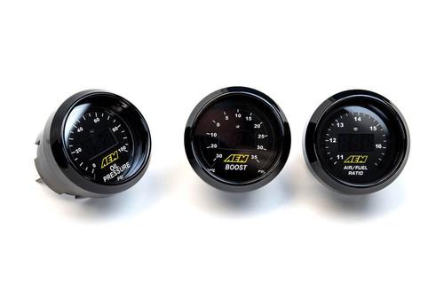 AEM Wide Band AF Ratio / Oil Pressure / Boost Gauge Combo