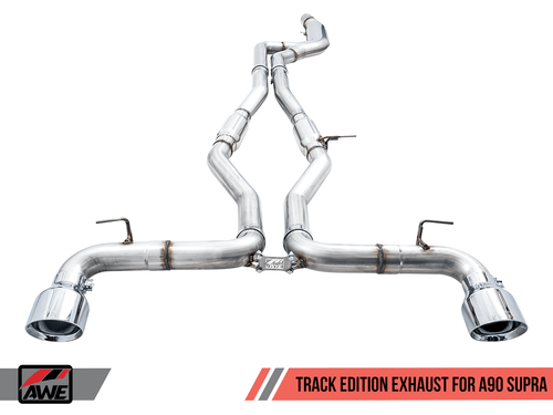 AWE Track Edition Catback Exhaust (Chrome Tips) For Toyota Supra A90 - 3015-32116