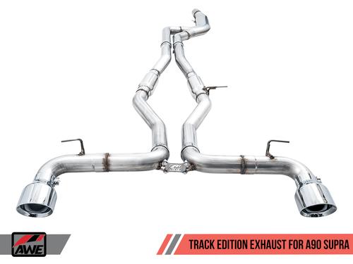 AWE Track Edition Catback Exhaust (Chrome Tips) For Toyota Supra A90 - 3015-32116