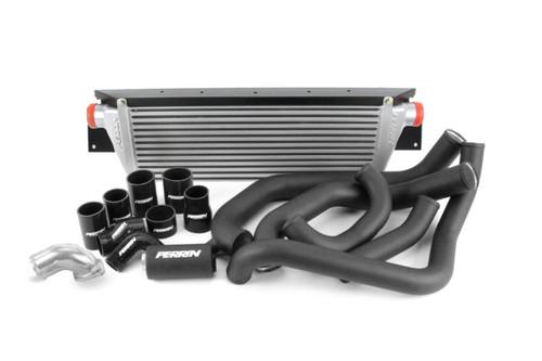 Perrin Front Mount Intercooler Kit (Silver Core/Black Pipes) For 08-14 Subaru WRX - PSP-ITR-KIT3-SLBK