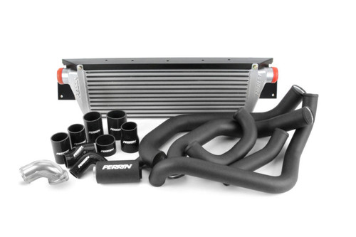 Perrin Front Mount Intercooler Kit (Silver/Black) For 08-14 Subaru WRX - PSP-ITR-KIT3-SLBK