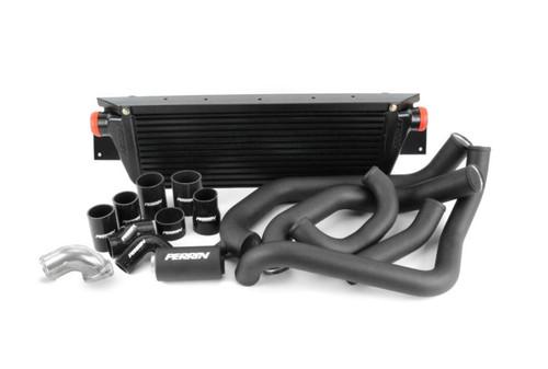 Perrin Front Mount Intercooler Kit (Black Core/Black Pipes) For 08-14 Subaru WRX - PSP-ITR-KIT3-BKBK