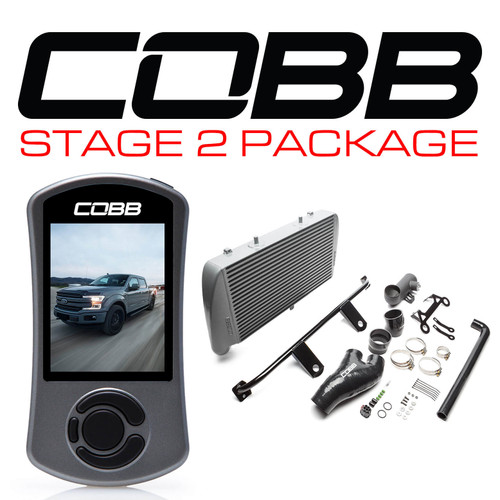 Cobb Stage 2 Power Package Silver (No Intake) For 17-19 Ford F-150 Ecoboost 3.5L - FOR0060020SL-NI