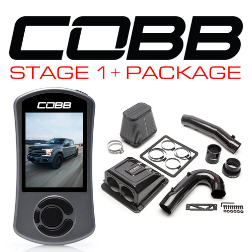 Cobb Stage 1+ Red Line Carbon Fiber Power Package With TCM For 17-19 F-150 Ecoboost 3.5L - FOR006001P-TCM-RED
