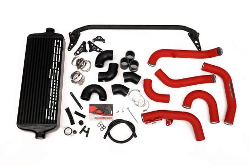 GrimmSpeed Front Mount Intercooler (Black/Red) For 15-21 Subaru STI - 090258