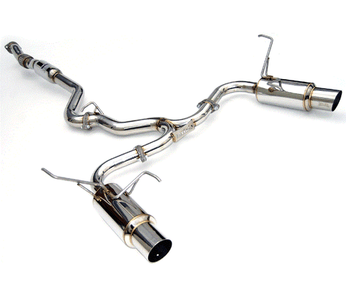 Invidia N1 Polished Tips Catback Exhaust For 08-14 Subaru WRX/STI - HS11STIGTP