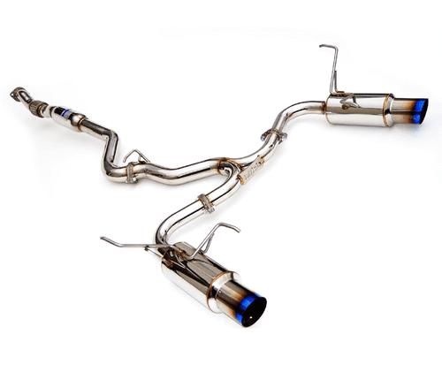 Invidia N1 Titanium Tips Catback Exhaust For 08-14 Subaru WRX/STI - HS11STIGTT