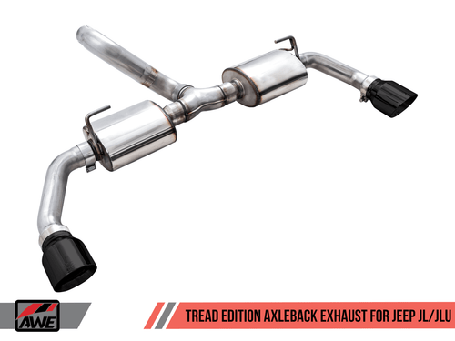 AWE Tread Edition Exhaust (Black Tips) For 18+ Jeep Wrangler JL - 3015-33001