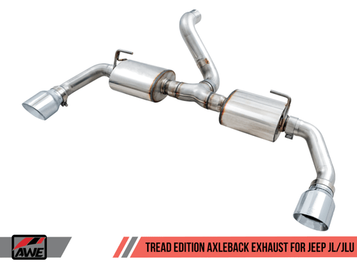 AWE Tread Edition Exhaust (Chrome Tips) For 18+ Jeep Wrangler JL - 3015-32001