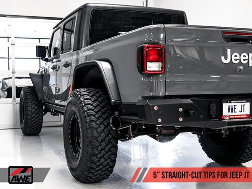 AWE Tread Edition Single Side Catback Exhaust For 20+ Jeep Gladiator - 3015-23103