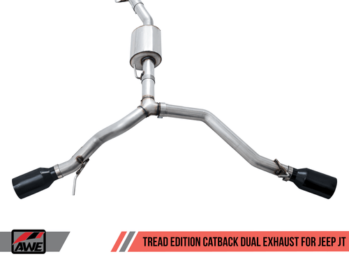 AWE Tread Edition Dual Catback Exhaust For 20+ Jeep Gladiator - 3015-33101