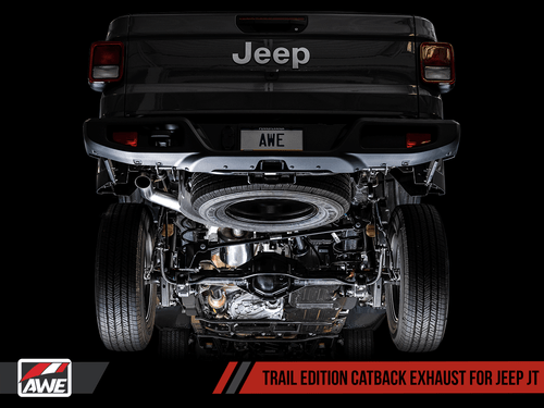 AWE Trail Edition Catback Exhaust For 20+ Jeep Gladiator - 3015-21001
