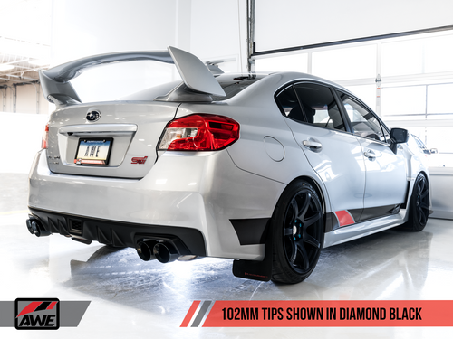 AWE Track Catback Exhaust (Black Tips) For 11+ Subaru WRX/STI - 3020-43066