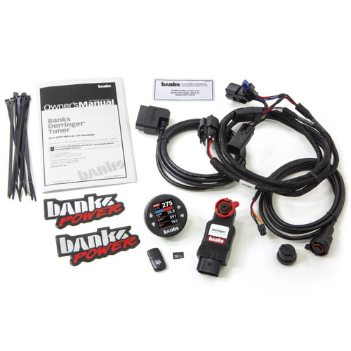 """Banks Power Derringer Tuner W/ 1.8"""" iDash DataMonster For 17-19 GM 2500/3500 6.6L Duramax L5P - 66793"""