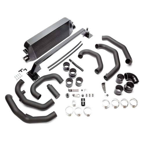 Cobb Front Mount Intercooler Kit (Black) 15-18 Subaru STI (SUBFMIC001BK)