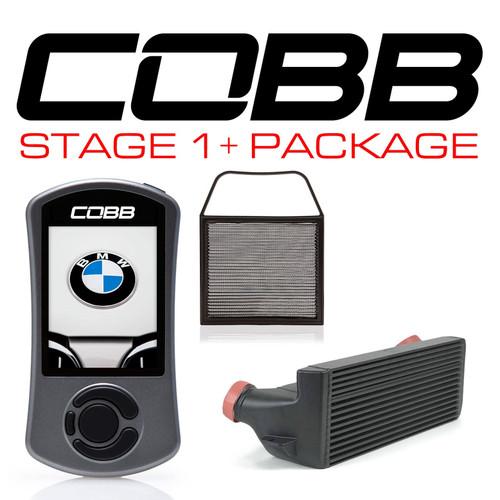 Cobb Stage 1+ Power Package Black For 07-13 BMW 135i/335i (N54) - 6B1X31P-BK