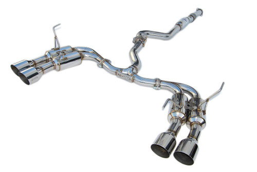 Invidia R400 Cat-Back Exhaust W/ SS Tips For 15+ Subaru WRX/STI - HS15STIGM4SS