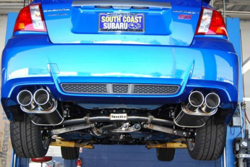 Invidia Q300 Cat-Back Exhaust w/ Rolled SS Tip For 15+ Subaru WRX/STI - HS15STIG3S
