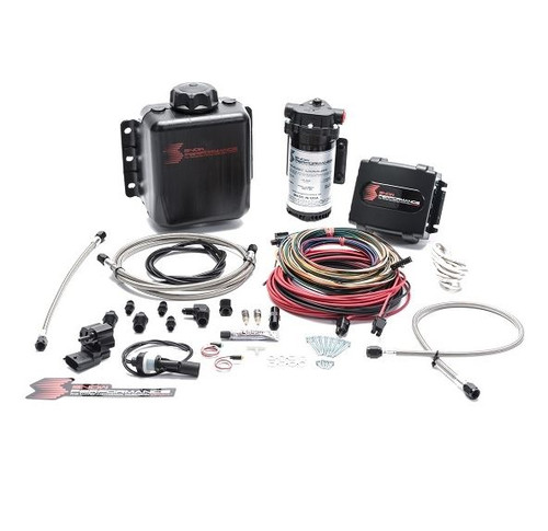 Snow Performance Stage 4 Boost Cooler Platinum Tuning Water-Methanol Injection Kit (Stainless Steel Braided Line & AN Fittings) (SNO-9000-BRD)