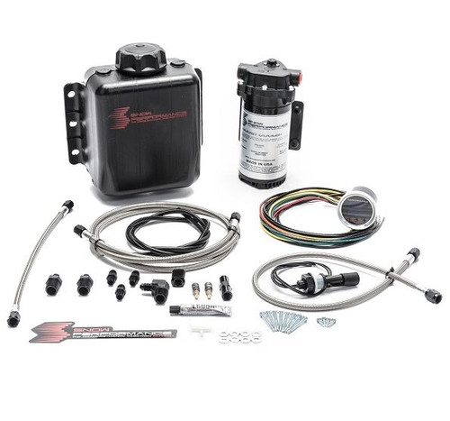 Snow Performance Stage 2 Boost Cooler Forced Induction Progressive Water-Methanol Injection Kit (Stainless Steel Braided Line & AN Fittings) (SNO-210-BRD)
