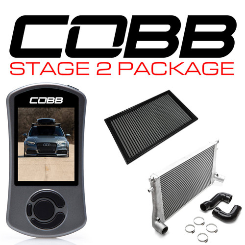 Cobb Stage 2 Power Package W/DSG Flashing For 15-20 Audi A3 (8V) - VLK0020120-DSG-A