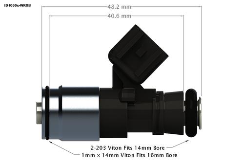 Injector Dynamics ID1050X for Scion FR-S FA20 2.0L (Set of 4) (1050.18.04.36.11.4)