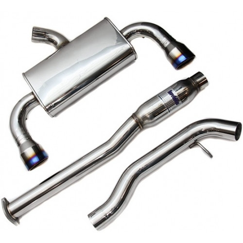 Invidia Q300 Cat Back Exhaust Titanium Tips for 2008-2015 Mitsubishi Evo X (HS09MEXG3T)