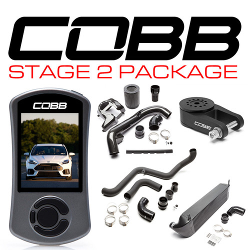 Cobb Stage 2 Power Package Black For 16-18 Ford Focus RS - FOR0040020BK