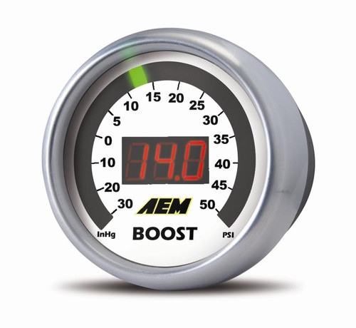 AEM 30-4406 Boost Digital 52mm Gauge 30-50 PSI