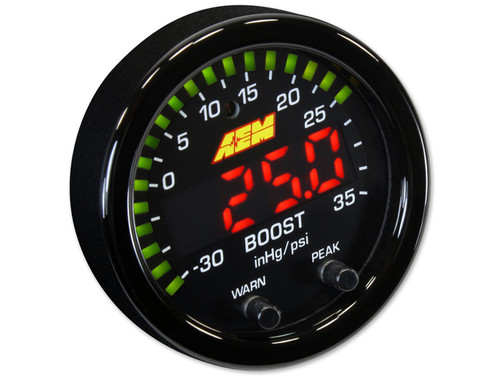 AEM 30-0306 X-Series Boost Pressure Gauge Kit 30in/Hg~35PSI
