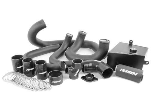 Perrin FMIC Pipe Kit (Black) For 15-17 Subaru WRX - PSP-ITR-437-2BK/BK