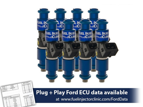 Fuel Injector Clinic 1200cc (110lbs/hr) Fuel Injectors For 05-16 Ford Mustang GT – IS403-1200H