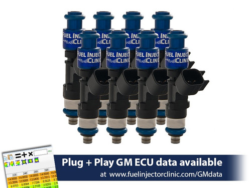 Fuel Injector Clinic 365cc (40lbs/hr) Fuel Injectors For Chevrolet LS1 Engines - IS301-0365H