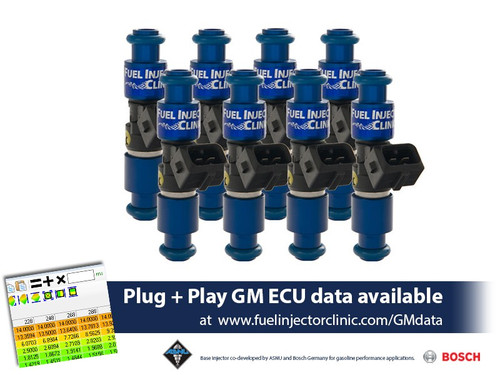 Fuel Injector Clinic 1650cc (180lbs/hr) Fuel Injectors For Chevrolet LS1 Engines - IS301-1650H