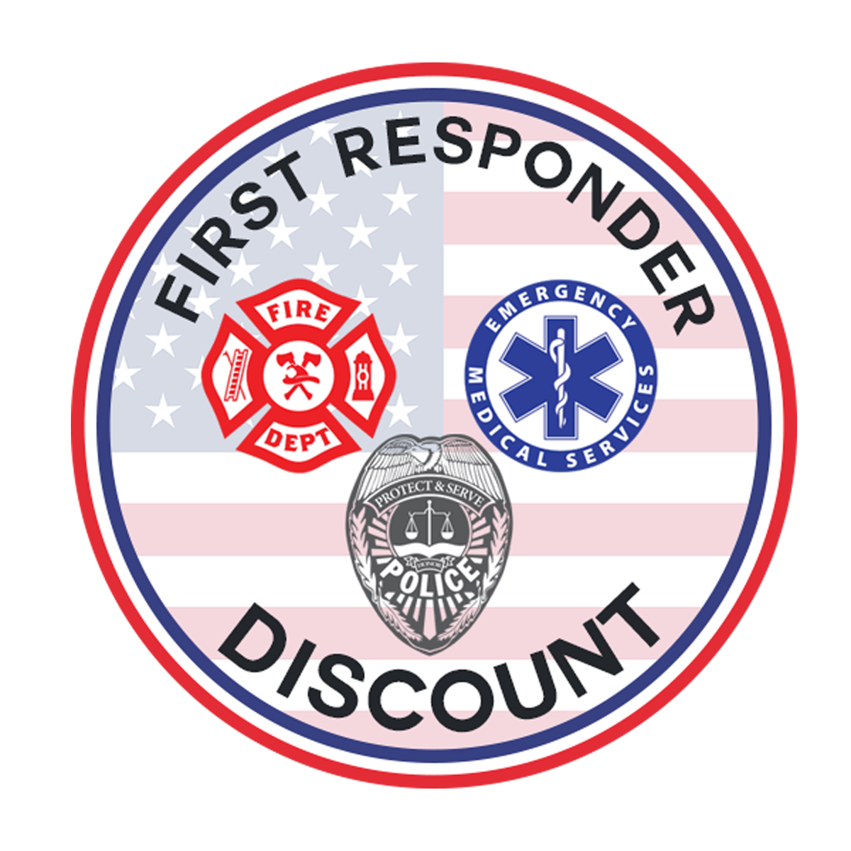 We Honor First Responders Discounts