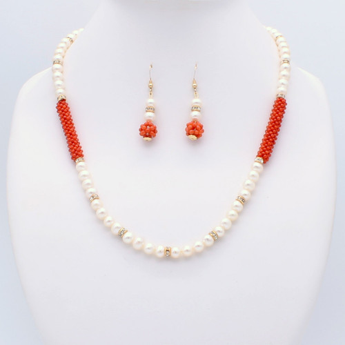 Pearl & Red Coral Set