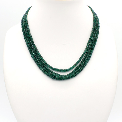 Speckled Emerald Necklace
