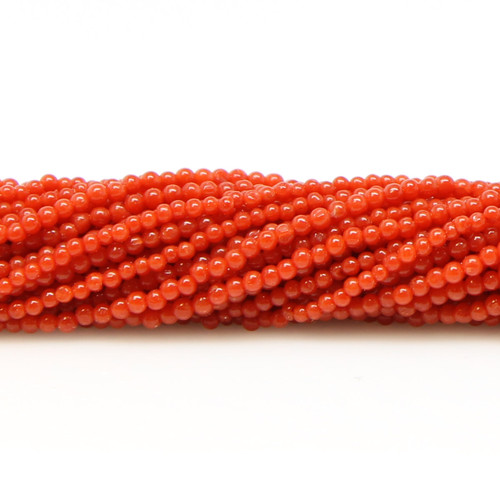 Round Italian Red Coral, 1.7 mm