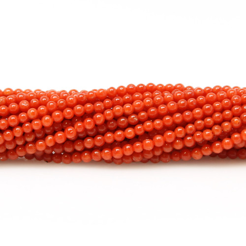Natural red Italian coral beads