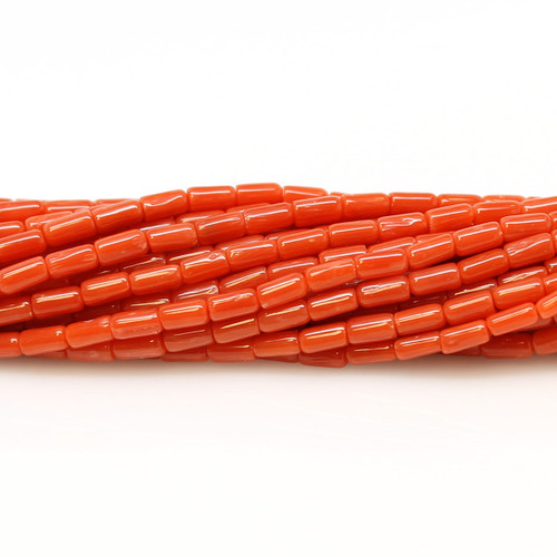 Light Red Italian Coral Tubes