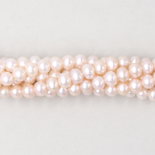 Light pink natural freshwater pearls